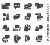 set of message related vector... | Shutterstock .eps vector #1069547714