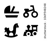 icons baby with tricycle  toy ... | Shutterstock .eps vector #1069548248