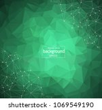 abstract polygonal green... | Shutterstock .eps vector #1069549190