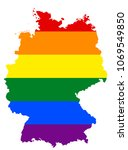 lgbt flag map of germany.... | Shutterstock .eps vector #1069549850