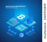 farm for mining bitcoins....   Shutterstock .eps vector #1069553849
