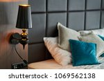 arriving at a hotel room ... | Shutterstock . vector #1069562138