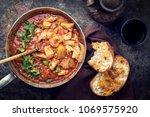 traditional creole cajun court... | Shutterstock . vector #1069575920