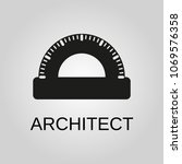 architect icon. architect... | Shutterstock .eps vector #1069576358