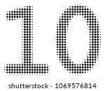 ten digits text halftone vector ...   Shutterstock .eps vector #1069576814