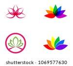 lotus flower sign for wellness  ...   Shutterstock .eps vector #1069577630