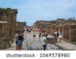 pompeii  italy   september 5 ... | Shutterstock . vector #1069578980