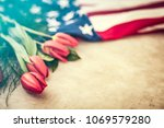 american flag for memorial day  ... | Shutterstock . vector #1069579280
