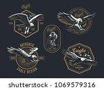 set of the vintage emblem with...   Shutterstock .eps vector #1069579316