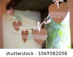 shabby chic wedding decoration... | Shutterstock . vector #1069582058