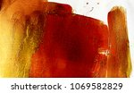 abstract stain  rad and gold ... | Shutterstock . vector #1069582829