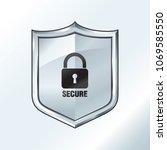 security shield illustration... | Shutterstock .eps vector #1069585550