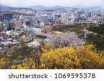 seoul  korea  april 10  2018 ... | Shutterstock . vector #1069595378