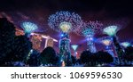 gardens by the bay in singapore | Shutterstock . vector #1069596530