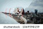 blockchain technology concept... | Shutterstock . vector #1069598159