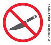 no sharp glyph icon ... | Shutterstock .eps vector #1069598999