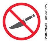 no sharp glyph icon ... | Shutterstock .eps vector #1069598999