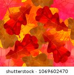 seamless pattern with... | Shutterstock .eps vector #1069602470