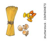 vector sketch hand drawn... | Shutterstock .eps vector #1069604873