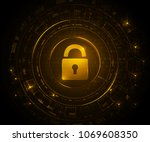 cryptocurrency and new virtual... | Shutterstock .eps vector #1069608350