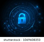 cryptocurrency and new virtual... | Shutterstock .eps vector #1069608353