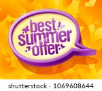 best summer offer speech bubble ... | Shutterstock .eps vector #1069608644