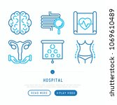 hospital thin line icons set... | Shutterstock .eps vector #1069610489