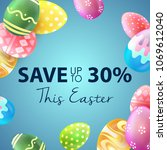 easter sale banner with... | Shutterstock .eps vector #1069612040