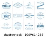 set of vector weather icons and ... | Shutterstock .eps vector #1069614266