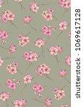 spring flowering azalea.... | Shutterstock .eps vector #1069617128