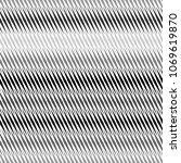 monochrome geometrical oval... | Shutterstock .eps vector #1069619870