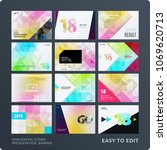 presentation. abstract vector... | Shutterstock .eps vector #1069620713
