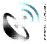 space antenna halftone vector... | Shutterstock .eps vector #1069623050