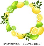 white round background with... | Shutterstock .eps vector #1069631813