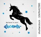 unicorns horse cute dream... | Shutterstock .eps vector #1069642580