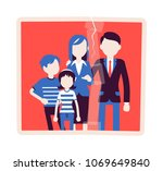 family reunion portrait. a... | Shutterstock .eps vector #1069649840