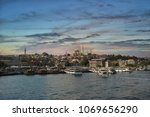 city of istanbul on a cloudy day   Shutterstock . vector #1069656290