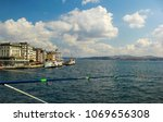 city of istanbul on a cloudy day   Shutterstock . vector #1069656308