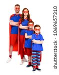 confident super family in... | Shutterstock . vector #1069657310