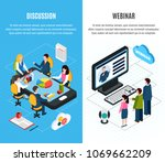 two isolated vertical isometric ...   Shutterstock .eps vector #1069662209