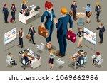 isometric people in dark... | Shutterstock .eps vector #1069662986