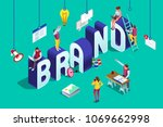 brand vector text with... | Shutterstock .eps vector #1069662998