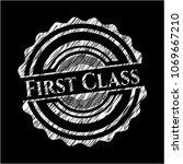 first class written on a... | Shutterstock .eps vector #1069667210