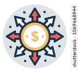 money spending icon  affiliate ... | Shutterstock .eps vector #1069668944