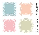 classic frame set with... | Shutterstock .eps vector #1069669178