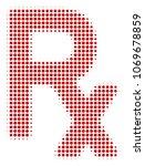rx symbol halftone vector icon. ... | Shutterstock .eps vector #1069678859