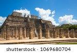 mexico  chichen itz   yucat n....   Shutterstock . vector #1069680704