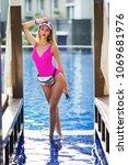 summer lifestyle fashion... | Shutterstock . vector #1069681976