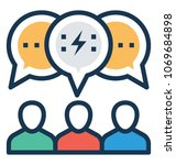 group conversation icon... | Shutterstock .eps vector #1069684898