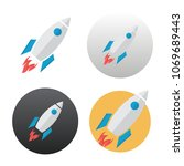 rocket icon on white background | Shutterstock . vector #1069689443